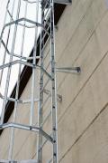 FACADESTIGER: Schøller Stål leverer, monterer og lagerfører facadestiger og tilbehør i et standard modulsystem