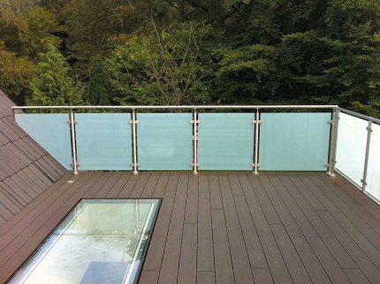 Afskærmning glas terrasse