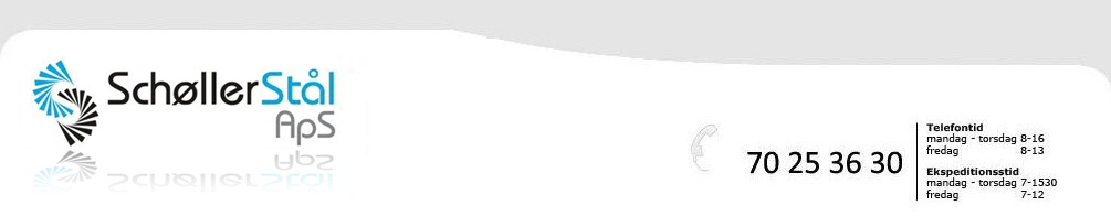 Schøller Stål kan som smedefirma tilbyde fuldt program i indendørs ståltrapper, udendørs galv. ståltrapper, gelændere, håndlister, glas- rækværker og levering af galvaniserede gitterriste, kørestolsramper, ristetrin, galv. stålrør pullerter, panelhegn, samt stativ rørsamle system fitting, clamps.